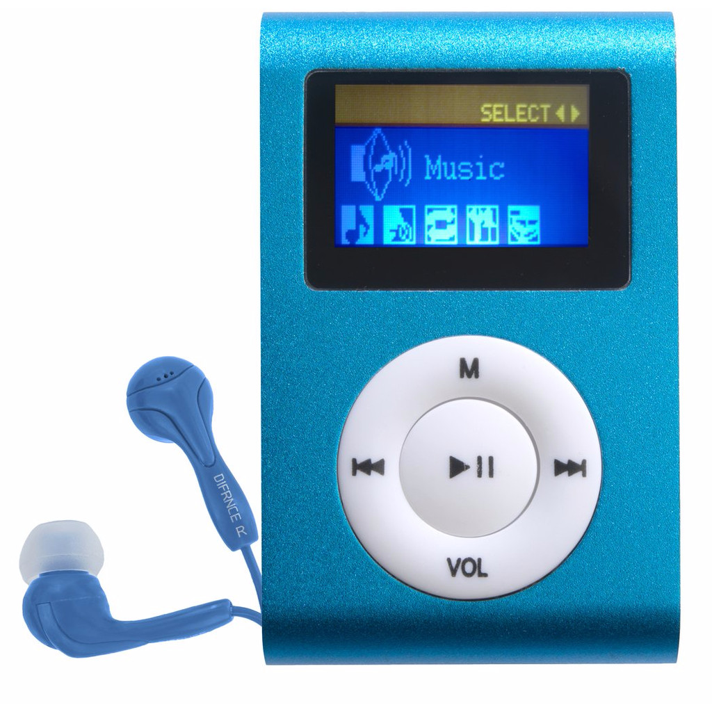 Difrnce Mp855 MP3-speler 4gb blauw