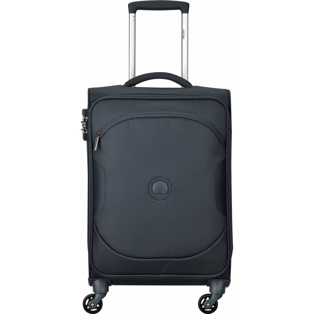 Delsey U-Lite Classic 2 4 Wiel Cabin Trolley Slim 55 anthracite Zachte koffer