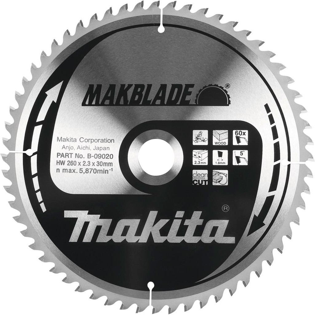 Makita Zaagblad 260x30x2,3 32T kopen
