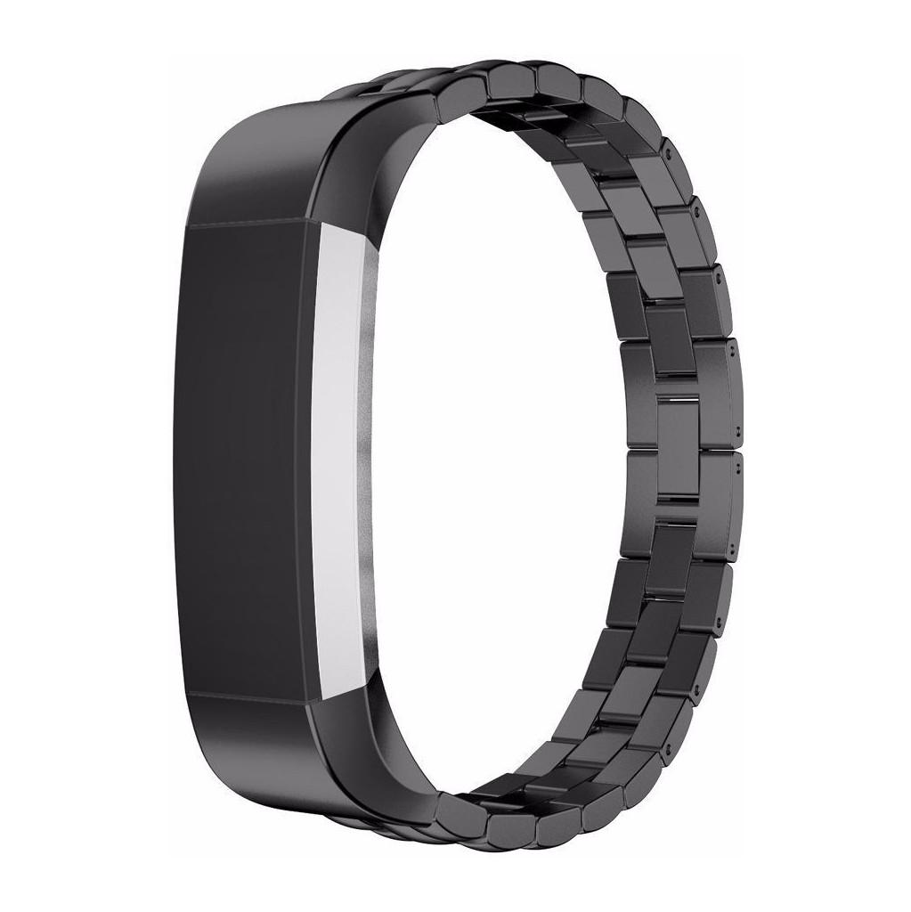 Just in Case Premium Chain RVS Polsband Fitbit Alta Zwart kopen
