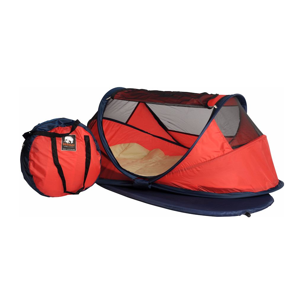 Deryan Travel Cot Baby Luxe Red in Grafwegen