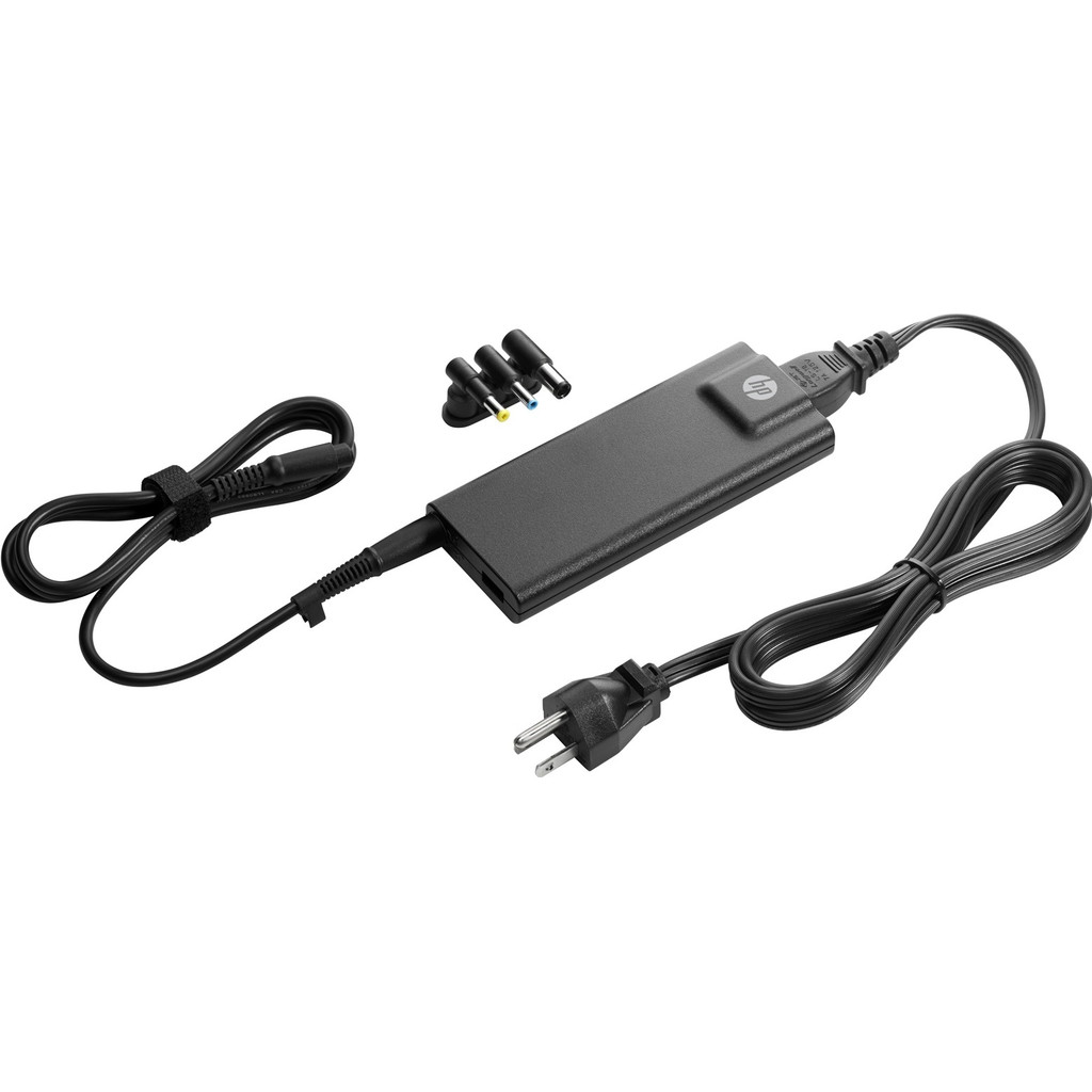HP 90-Watt Slim netadapter met USB in Tilligte