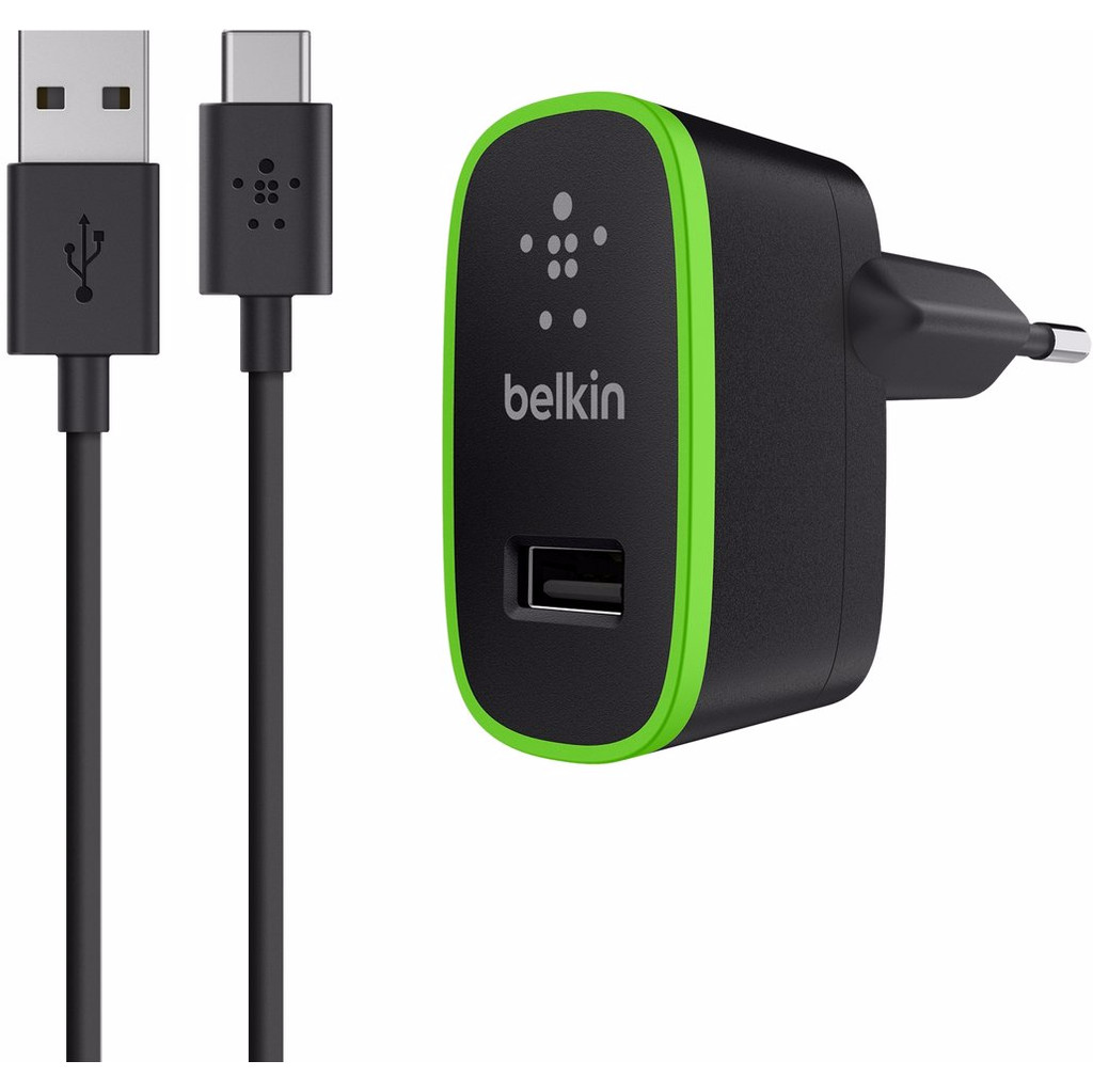 Belkin Thuislader USB-C 2,1A Zwart in Tiggelt
