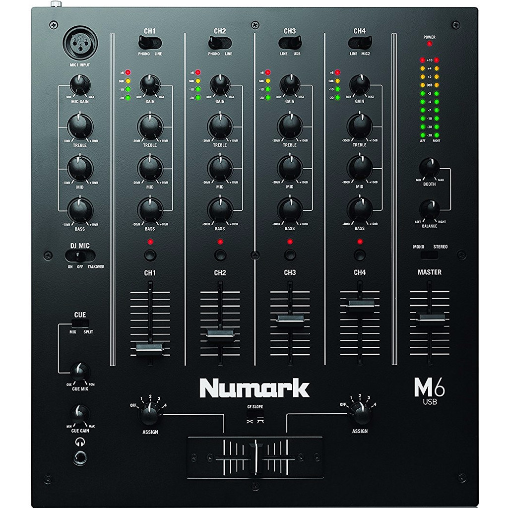 Numark M6 USB Zwart in Oostum