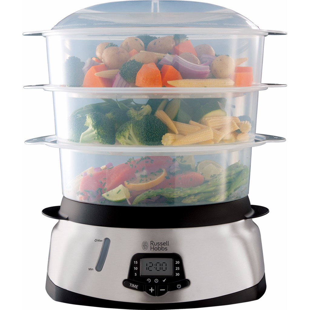 Russell Hobbs MaxiCook 3 Tier Digital Food Steamer 23560-56 in Slochteren
