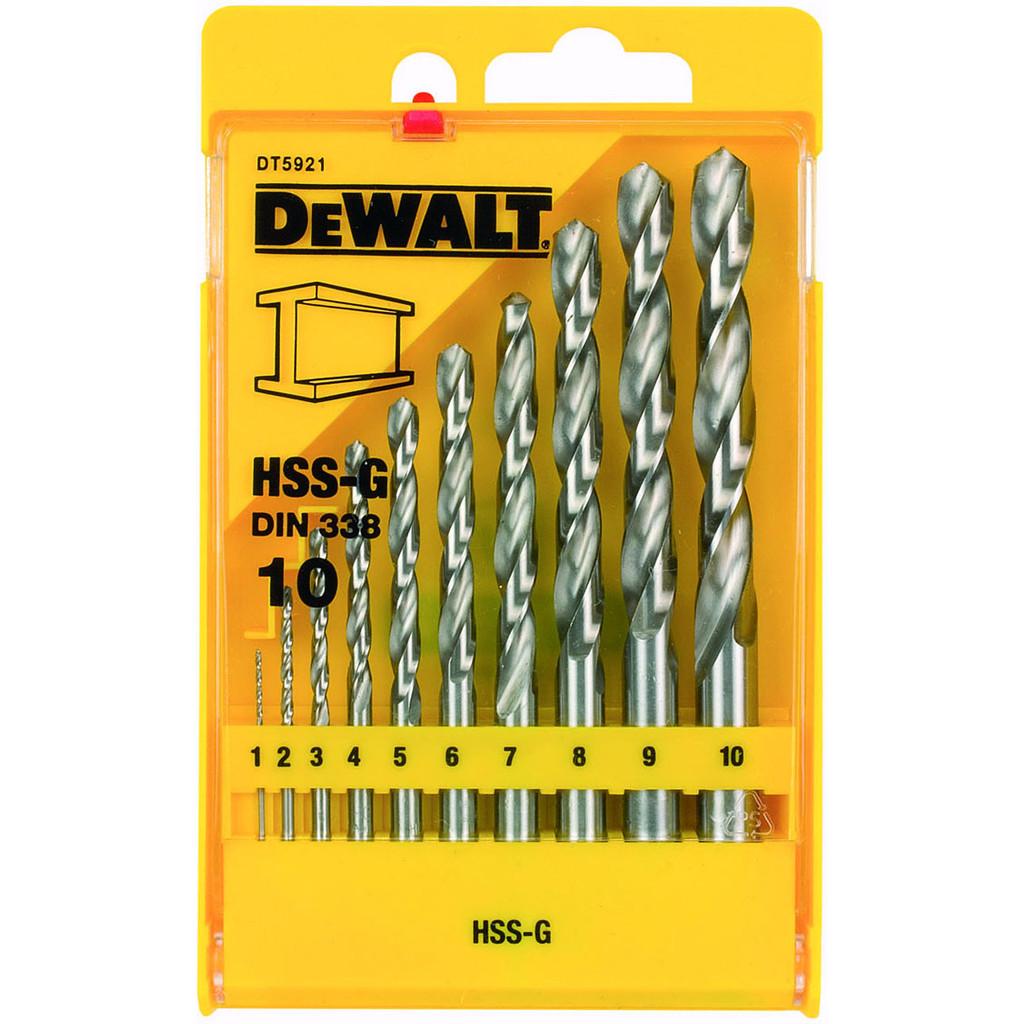 DeWalt 10-delige Metaalborenset HSS-G kopen