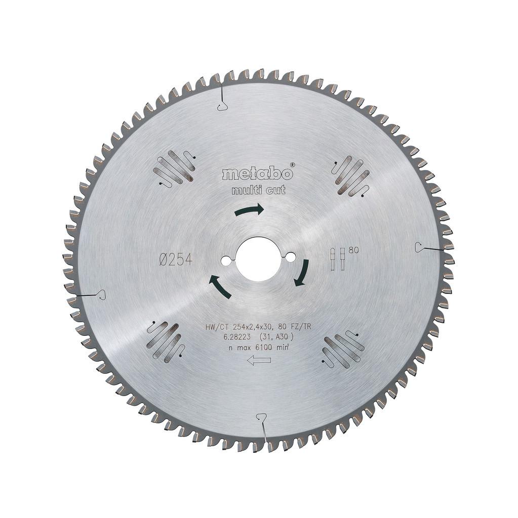 Metabo Zaagblad Multi Cut 254x30x2.4mm 80T in Rijkebuurt
