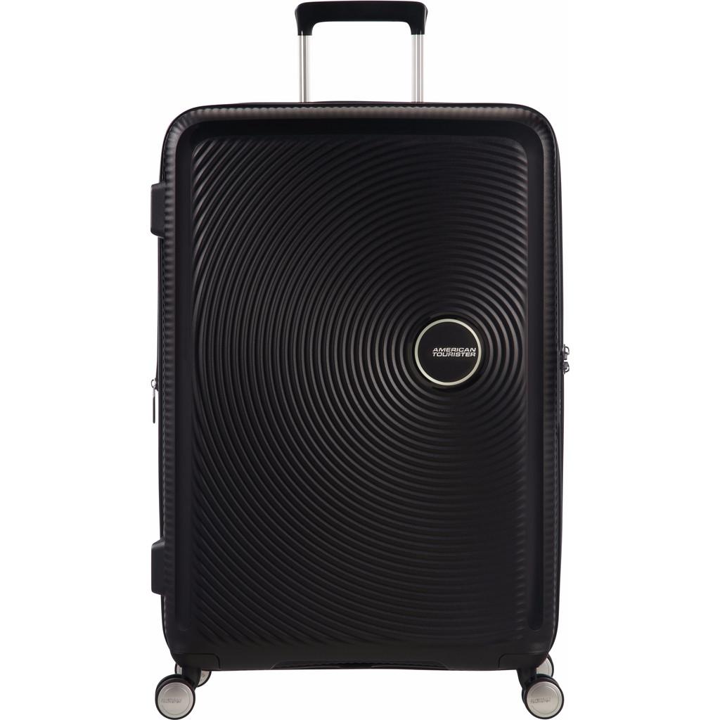 American Tourister Soundbox Spinner 67 Expandable bass black Harde Koffer