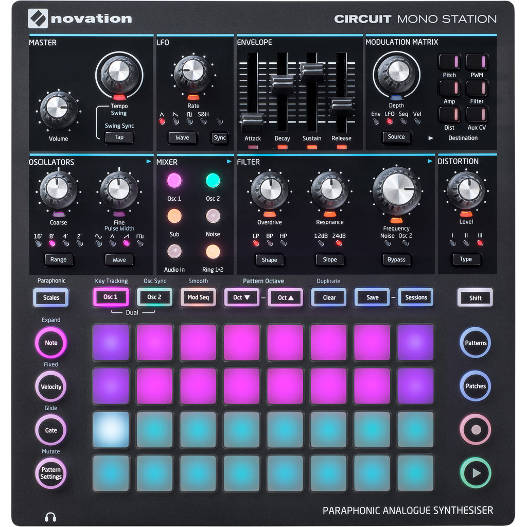 Novation Circuit Mono Station in Geneneind