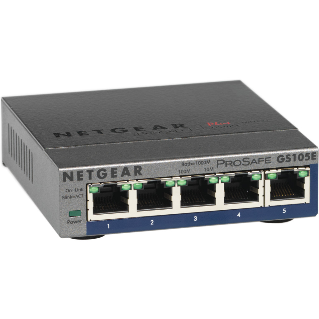 Netgear GS105E 5-Poorts ProSafe Plus Switch in Sint-Denijs-Westrem
