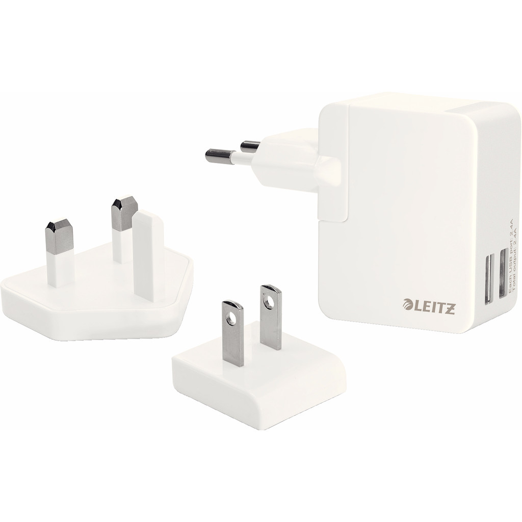 Leitz Complete Travel Charger 2X USB Wit kopen