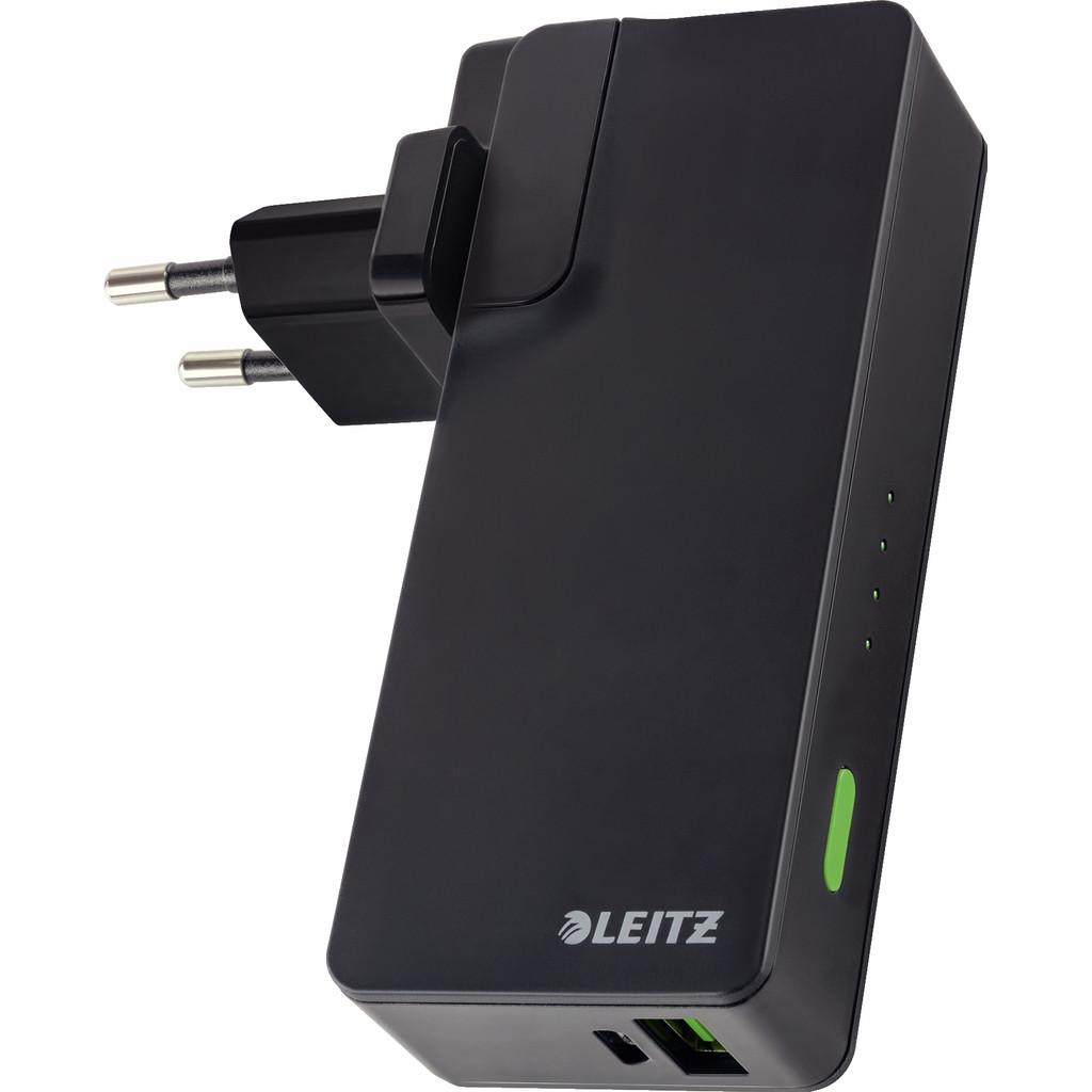 Leitz Complete USB Reislader + Powerbank 3000 Zwart in IJsselmuiden