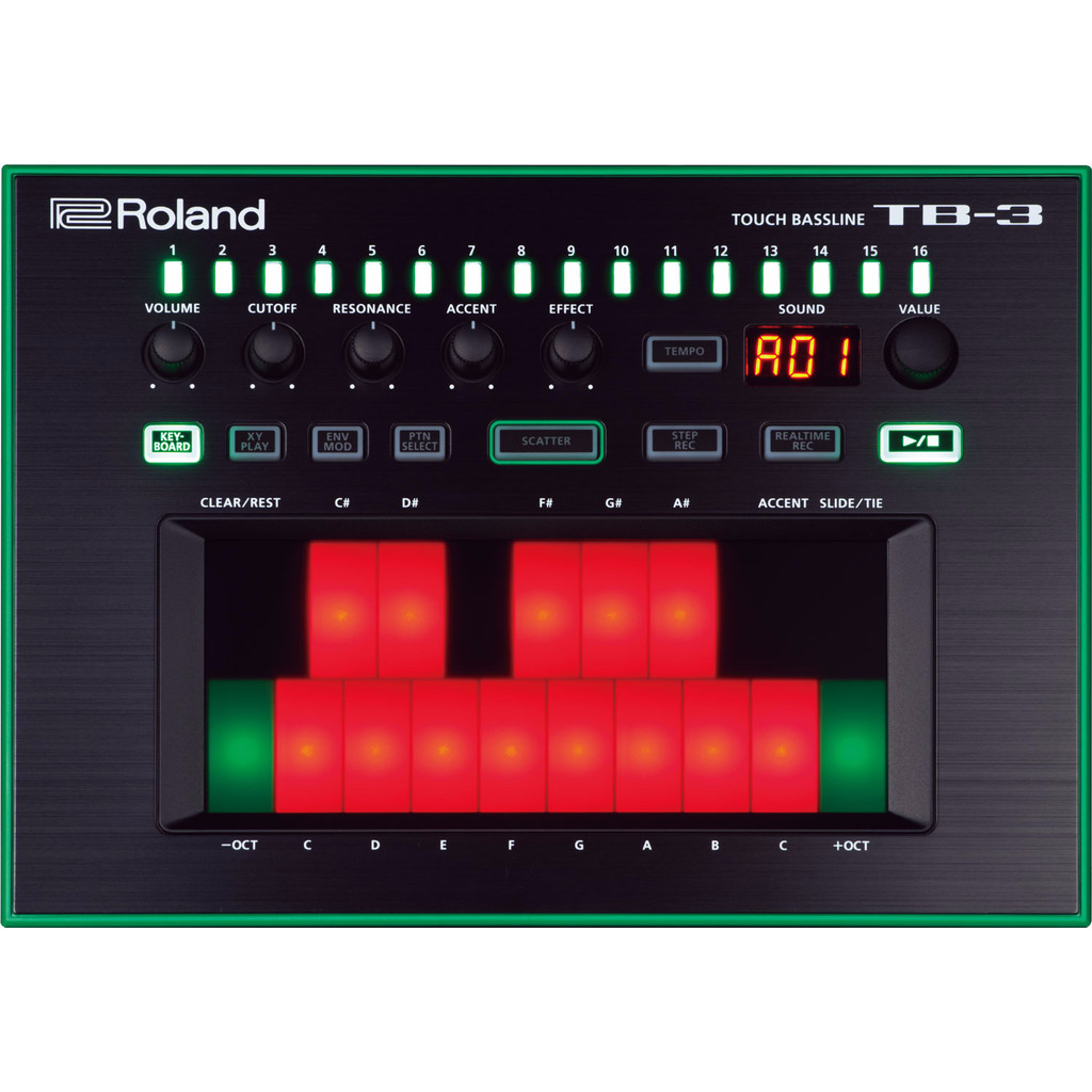 Roland Aira TB-3 in Doorning