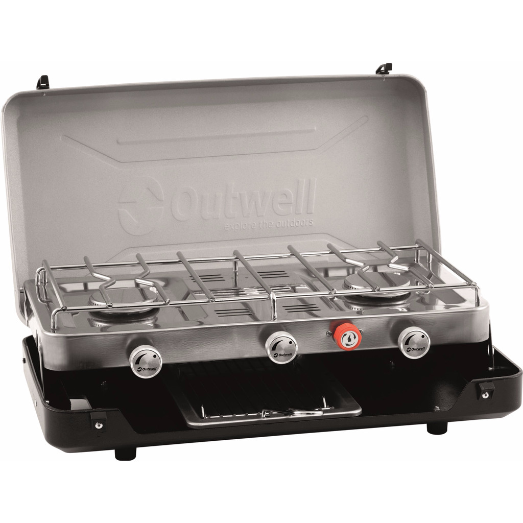 Image of Outwell Gourmet Cooker 3-Burner Stove w/Grill