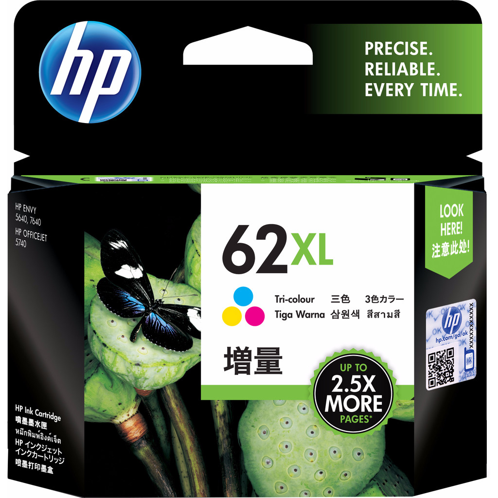 HP 62XL Cartridge 3-Kleuren (C2P07AE) in Baulers