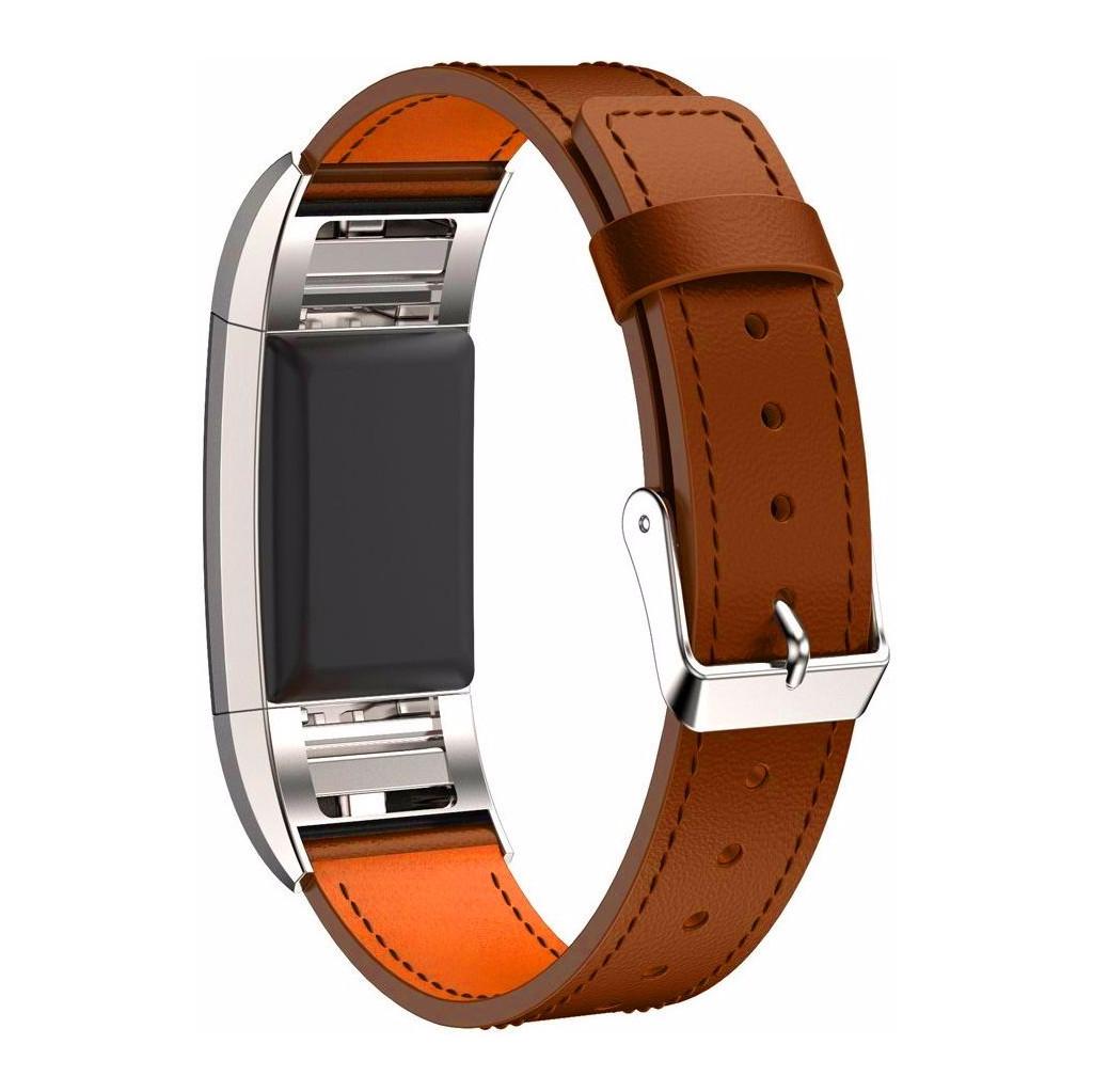 Just in Case Leren Polsband Fitbit Charge 2 Lichtbruin kopen