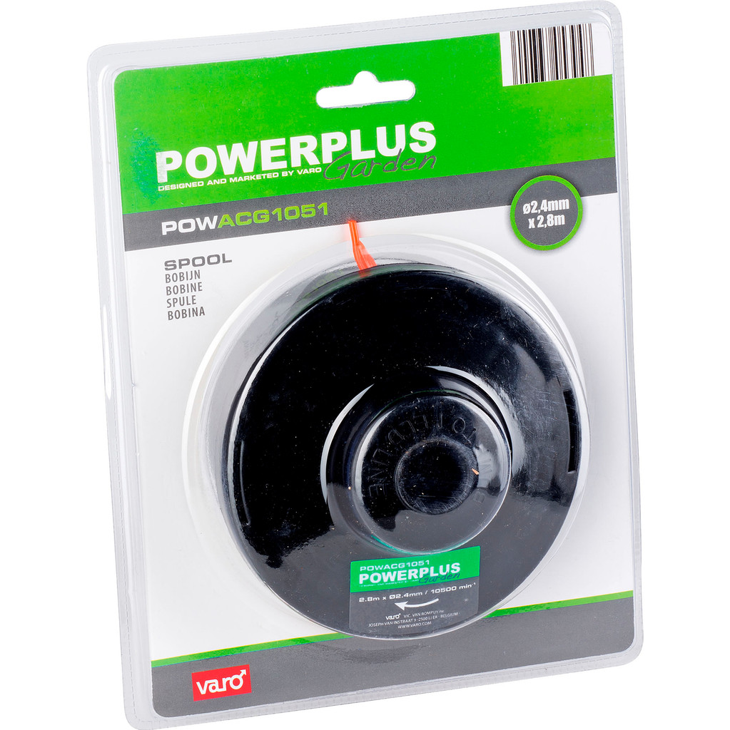 Powerplus Trimmerdraad (2,4mm x 2,8m) in Hoog Spul