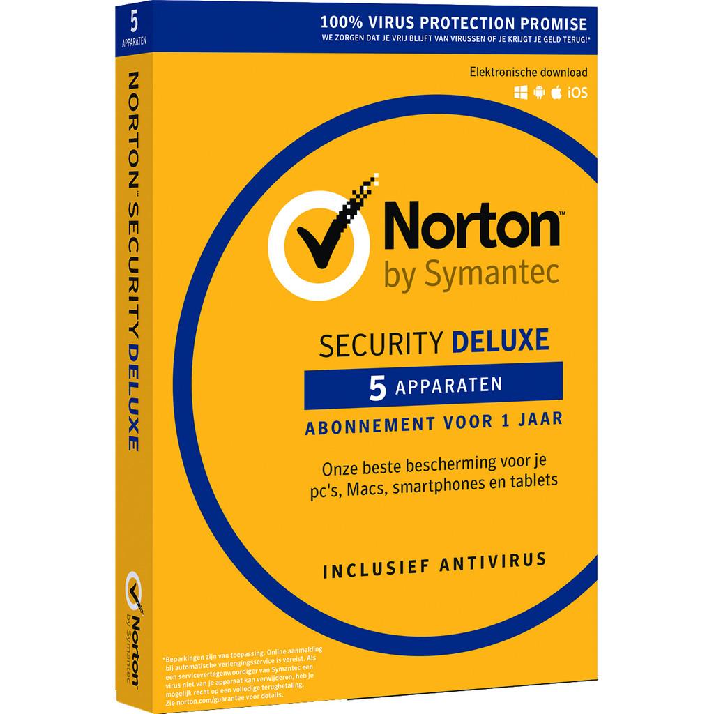 Symantec - Norton Norton Security Deluxe 2018 | 5 Apparaten | 1 Jaar