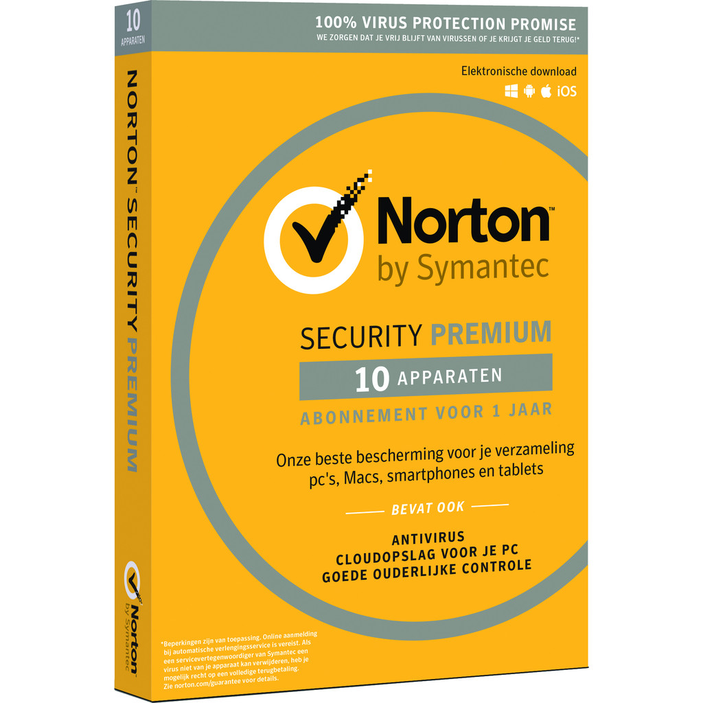 Norton Security Premium 3.0 + 25 GB 1 jaar abonnement in Het Vorst / Vorst