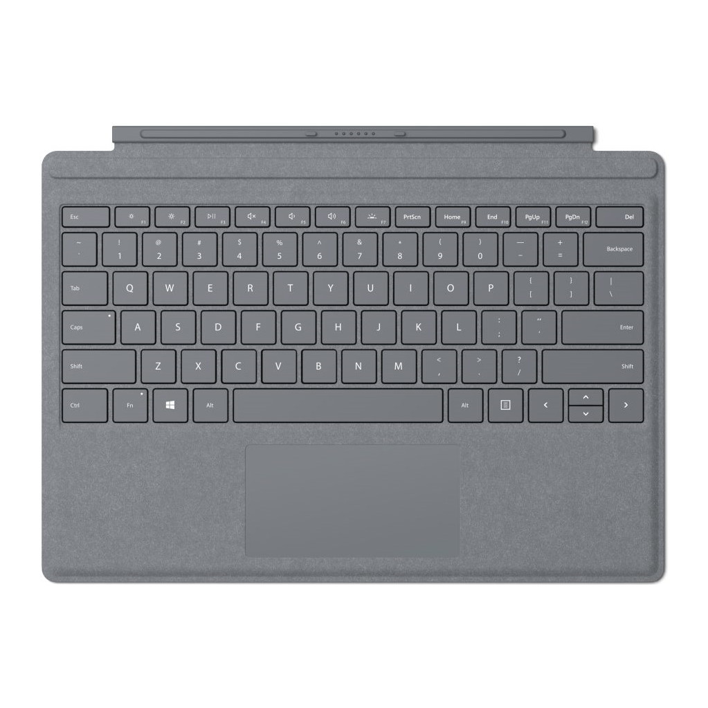 Microsoft Surface Pro Type Cover QWERTY Zilver in Hoge Hexel