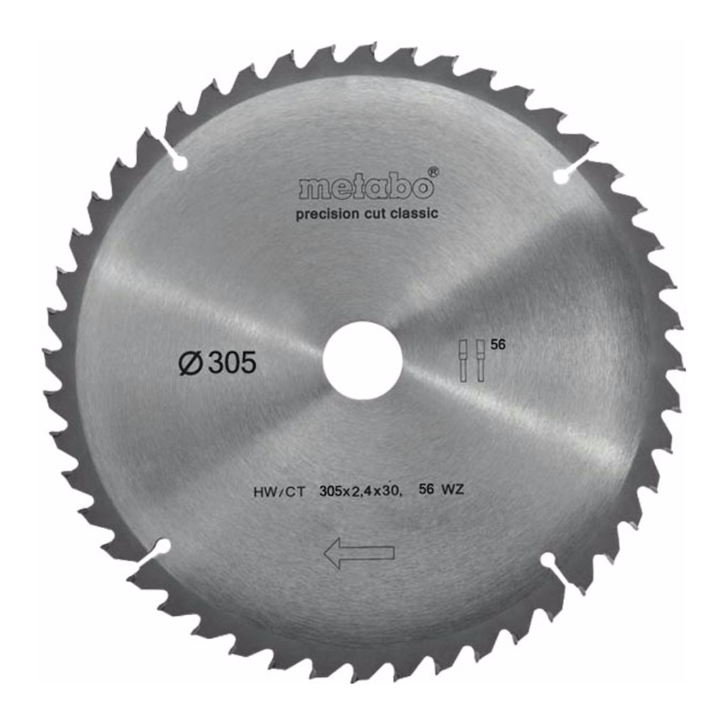 Metabo Zaagblad Precision Cut 305x30x2.4mm 56T kopen
