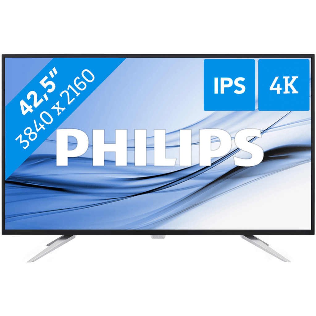 Philips Brilliance Monitor BDM4350UC-43 inch  3840 x 2160 resolutie  DisplayPort, HDMI, VGA, usb 3.0  IPS paneel  5 ms reactietijd