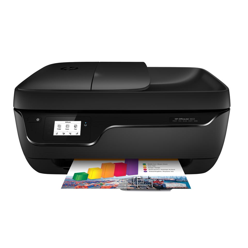HP OfficeJet 3833 4800 x 1200DPI Inkjet A4 8.5ppm Wi-Fi Zwart multifunctional