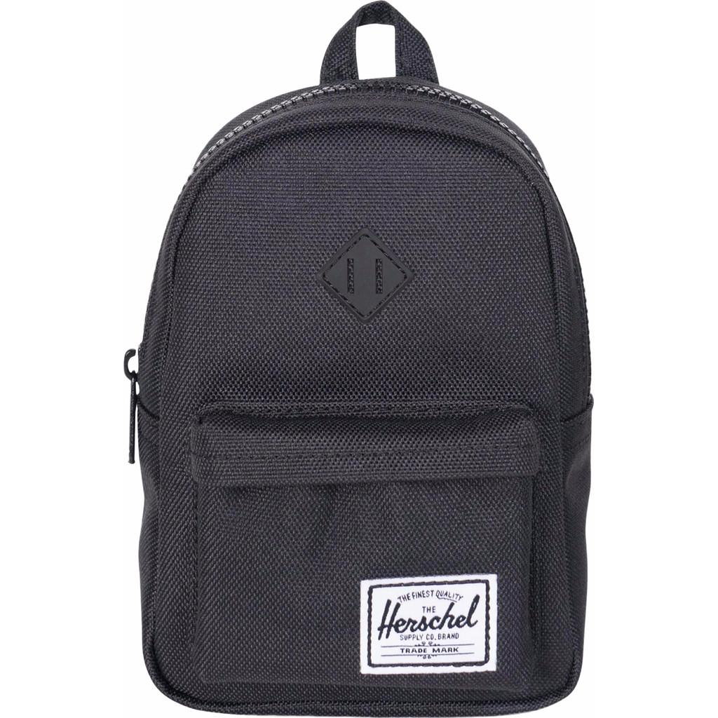 Herschel Heritage Mini Case Black/Black Rubber in Veneburen