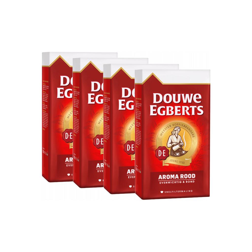 Douwe Egberts Aroma Rood snelfiltermaling 4 pack