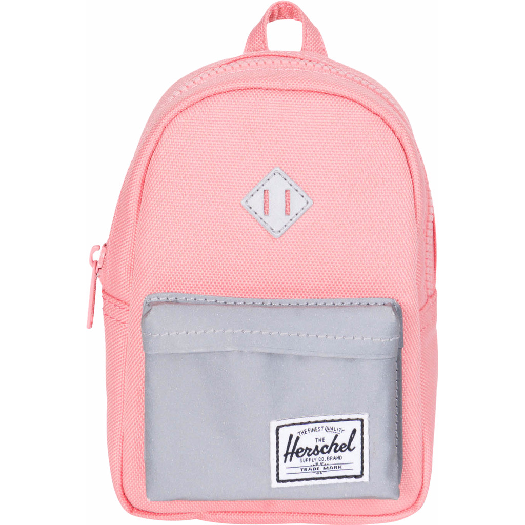 Herschel Heritage Mini Case Strawberry Ice/Reflective Rubber in Familleureux