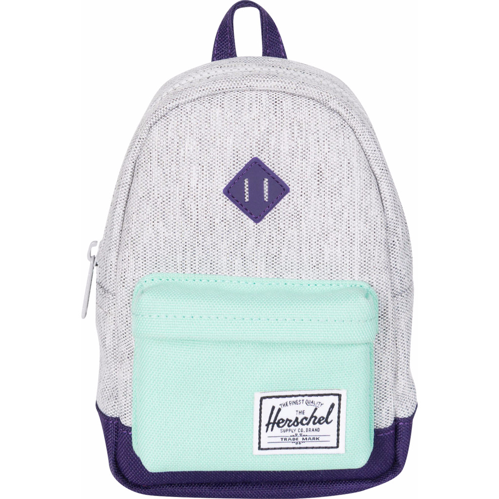 Herschel Heritage Mini Case Light Grey Cross/Lucite Green/Parach Purple in Brembosch