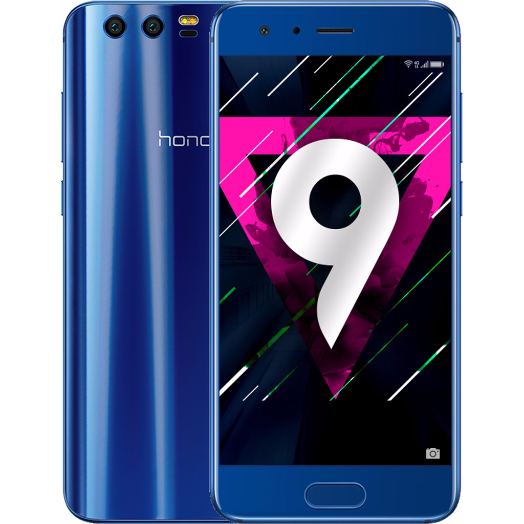 Honor 9 Blauw-64 GB opslagcapaciteit  5,2 inch Full HD scherm  Android 7.0 Nougat