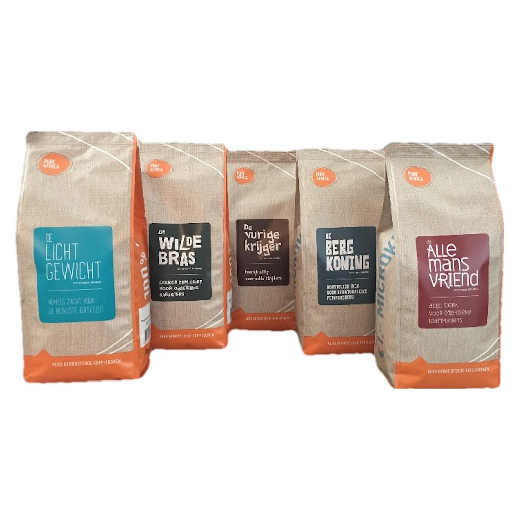 Pure Africa Proefpakket Arabica koffiebonen 2,5 kg in Houtigehage / De Houtigehage