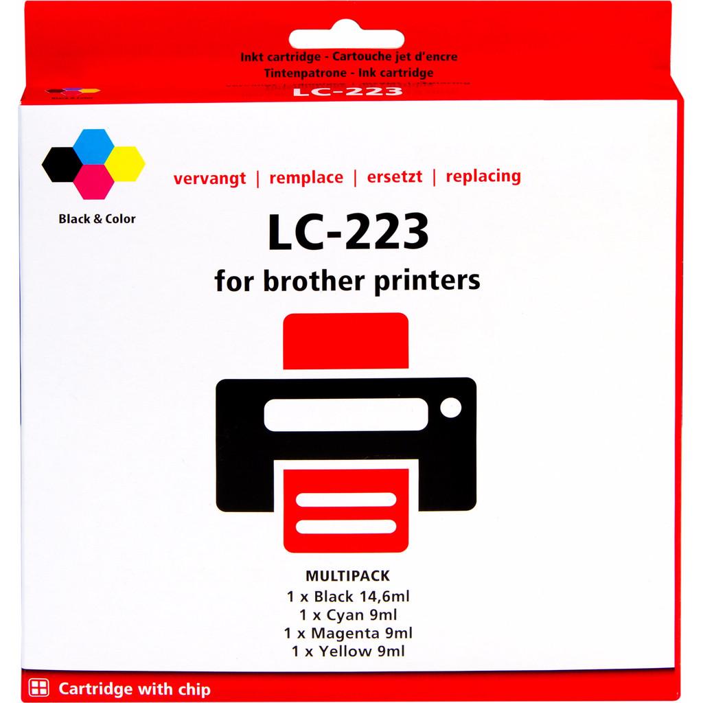 Huismerk LC-223 4-Kleuren Pack voor Brother printers in Proven