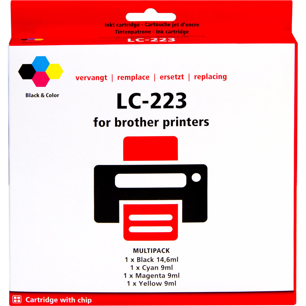 Huismerk LC-223 4-Kleuren Pack voor Brother printers in Jurbise