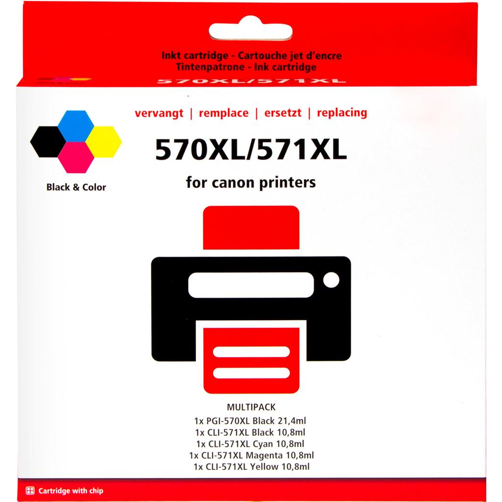Huismerk PGI-570/CLI-571 XL 5-Kleuren voor Canon printers (0372C004) in Chapelle-à-Wattines