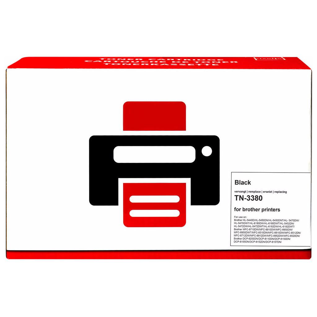 Huismerk TN-3380 Toner Zwart XL voor Brother printers (TN-3380) kopen
