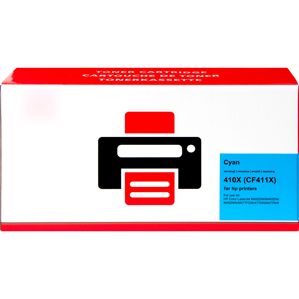 Huismerk 410X Toner Cyaan XL voor HP printers (CF411X) in Limelette
