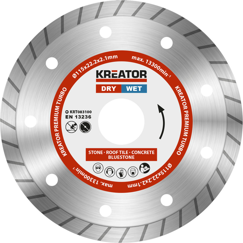 Kreator Diamantschijf Permium Turbo 115 mm in Vemde