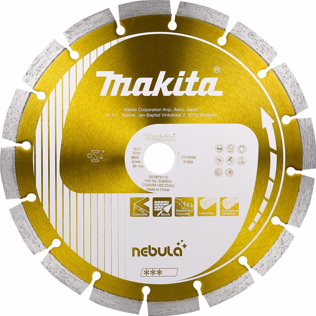 Makita B-54025 Diamantschijf 230 mm in Goor