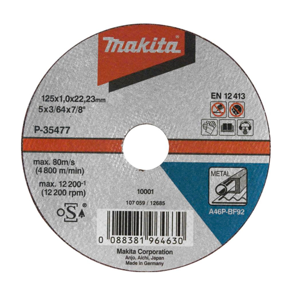 Makita B-35134 Slijpschijf Metaal 125 mm in Piaam