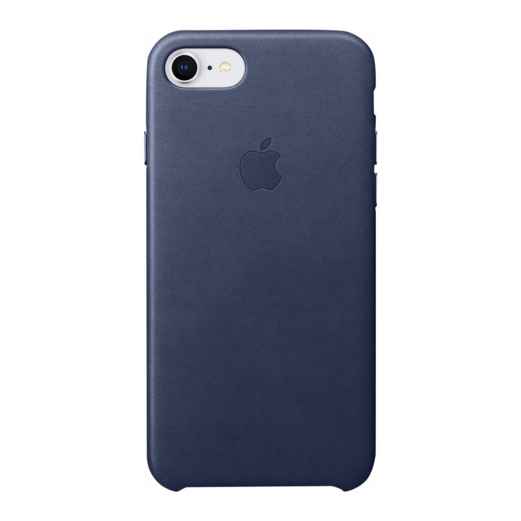 Apple Leren hoesje iPhone 8-7 Middernachtblauw