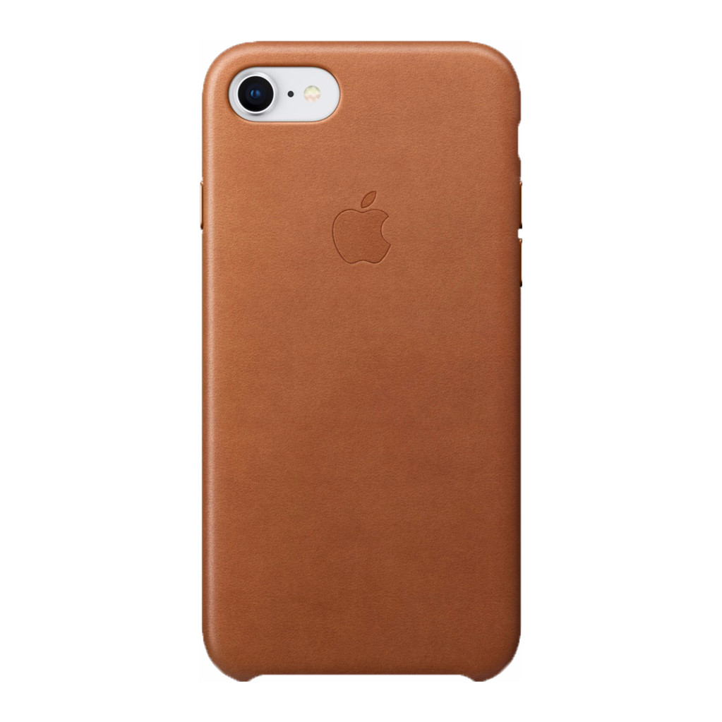 Apple iPhone 7 8 Leather Back Cover Bruin
