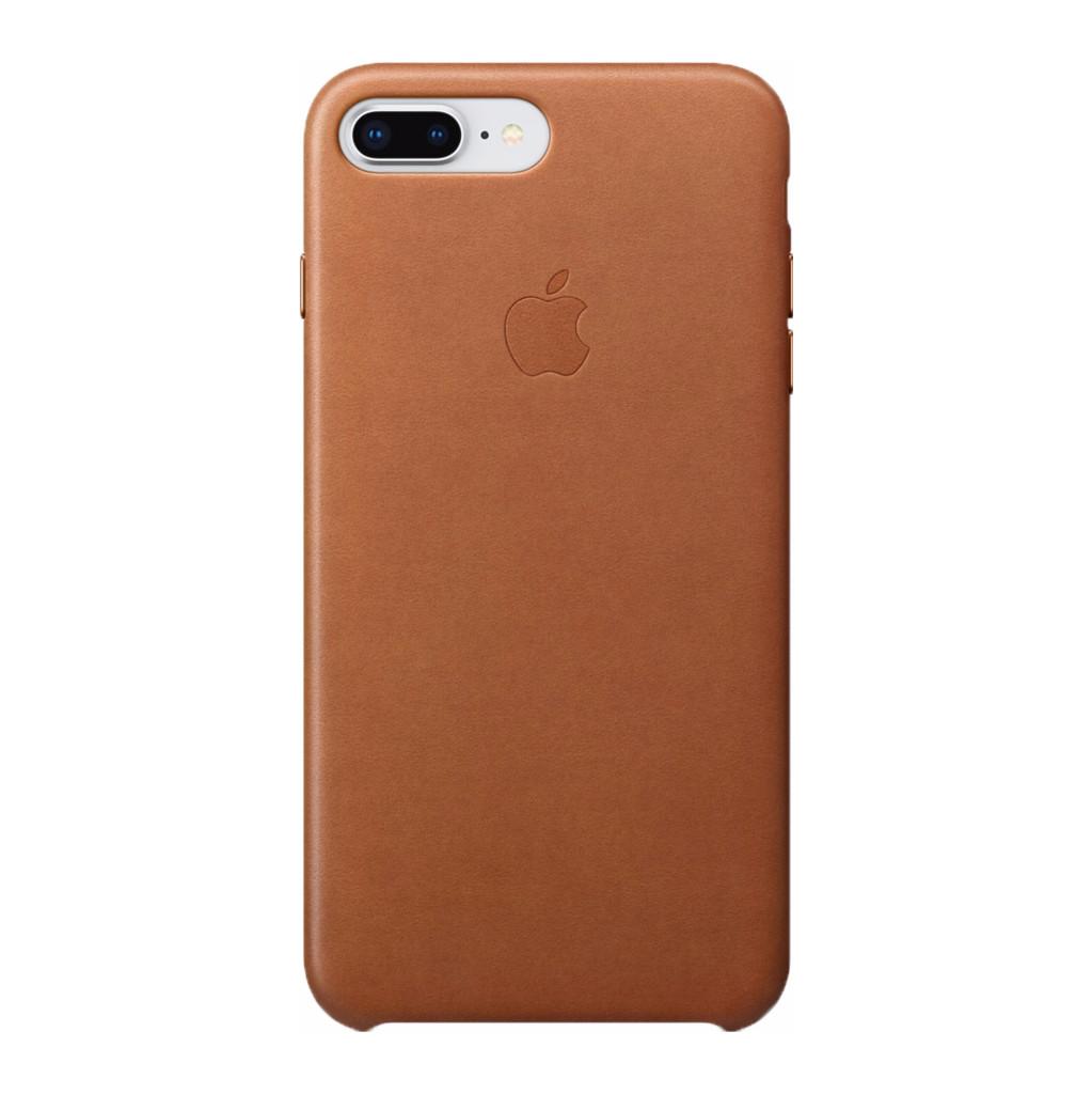 Apple Leren hoesje iPhone 8-7 Plus Zadelbruin