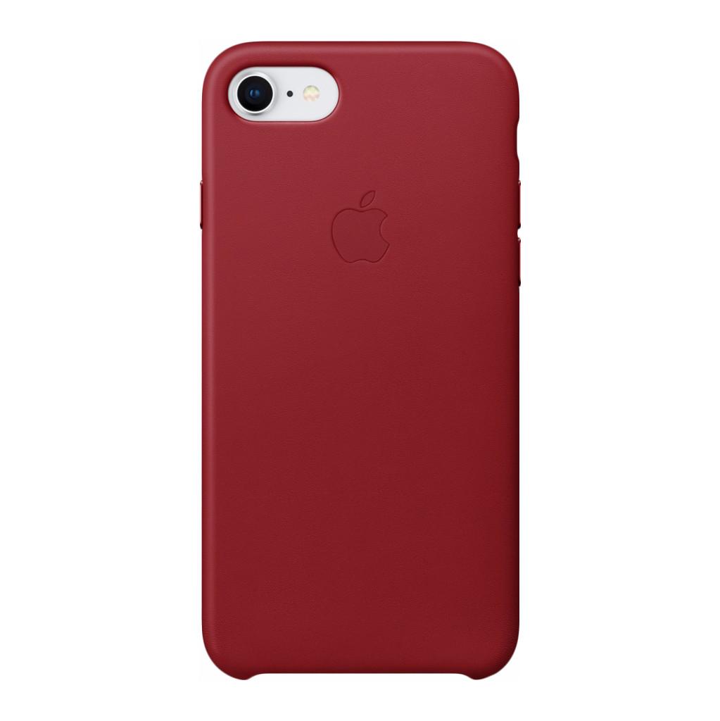 Apple Leren hoesje iPhone 8-7 (PRODUCT)RED