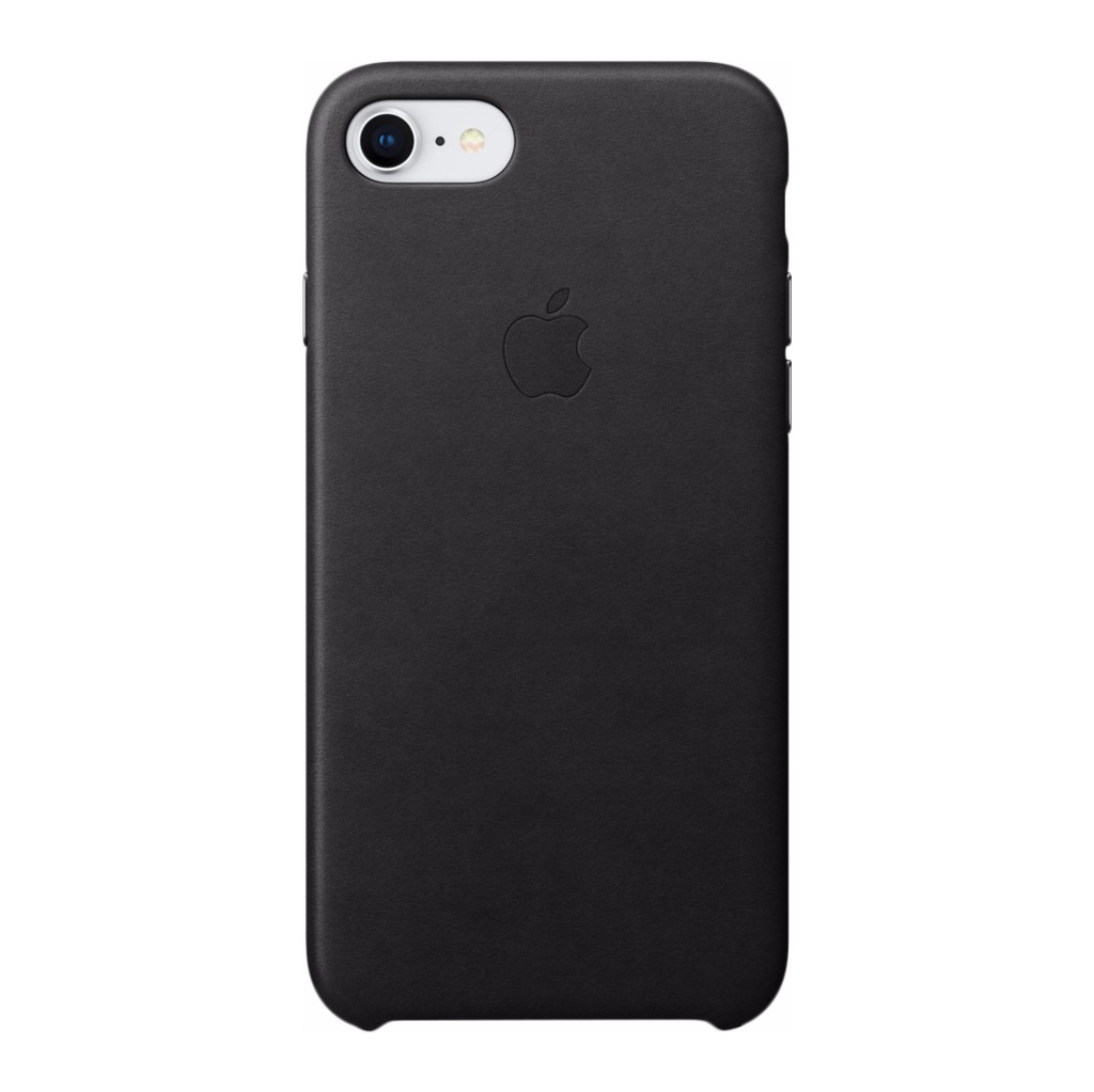 Apple iPhone 7/8 Leather Back Cover Zwart in Vierlingsbeek
