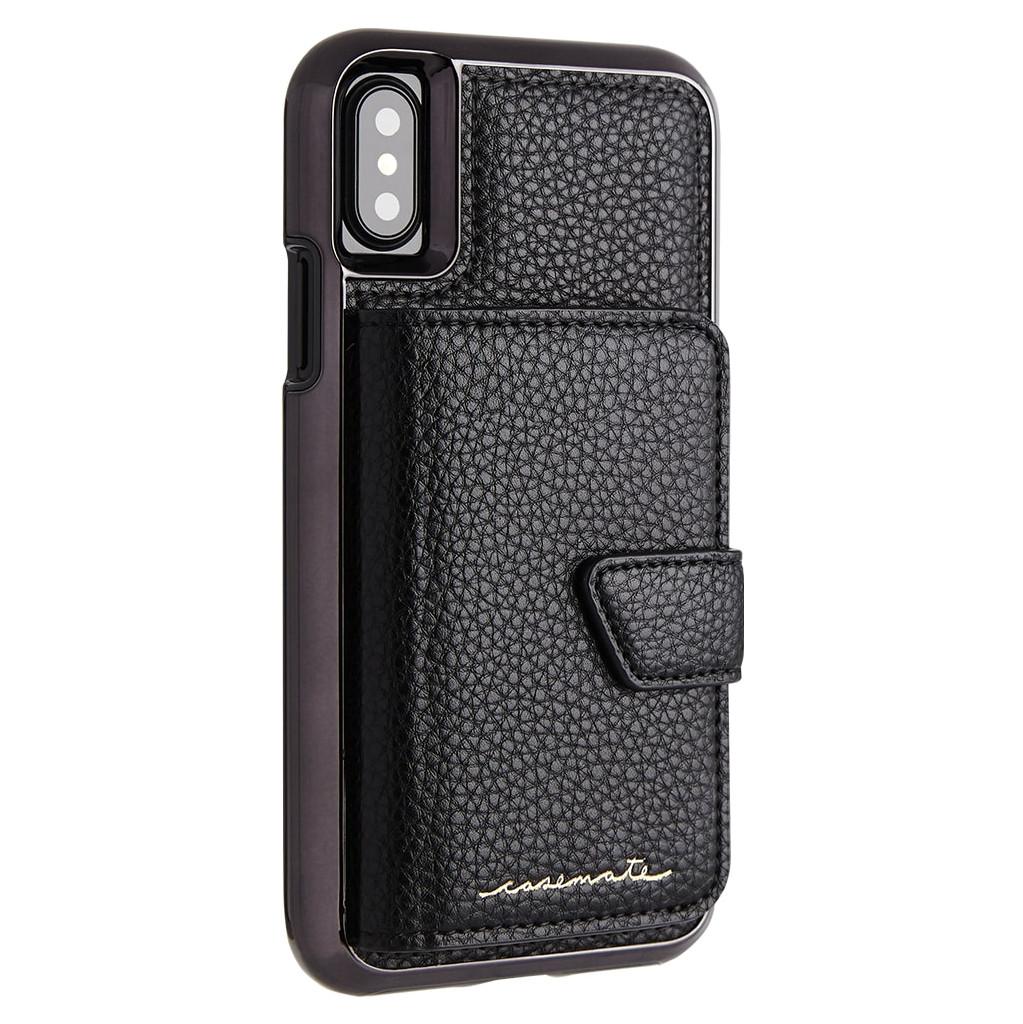 Afbeelding van Case Mate Compact Mirror Apple iPhone X Back Cover Zwart