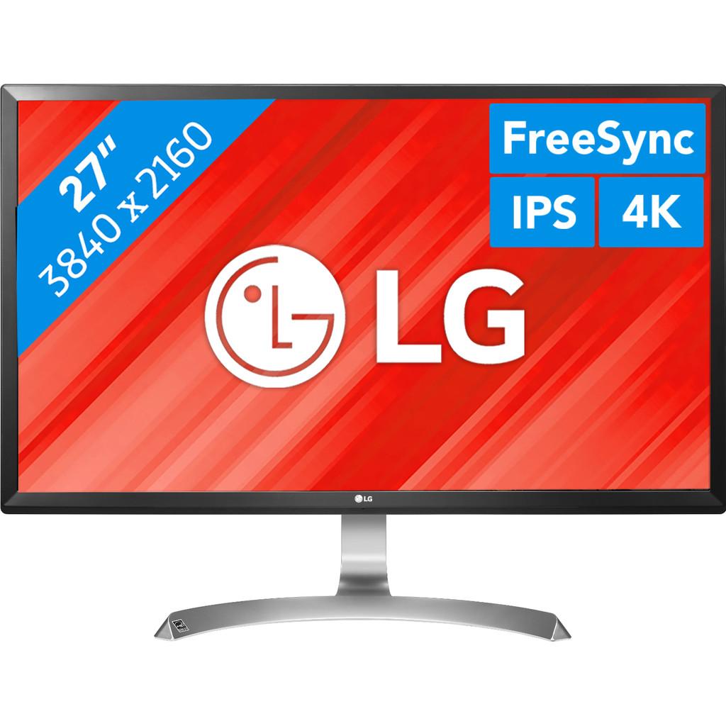 LG 27UD59-B-27 inch  3840 x 2160 resolutie  DisplayPort, HDMI, hoofdtelefoon  IPS paneel  5 ms reactietijd