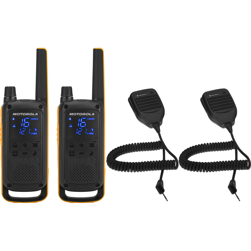 Motorola Talkabout T82 EXTREME Twin Pack + handmicrofoon in Tempel