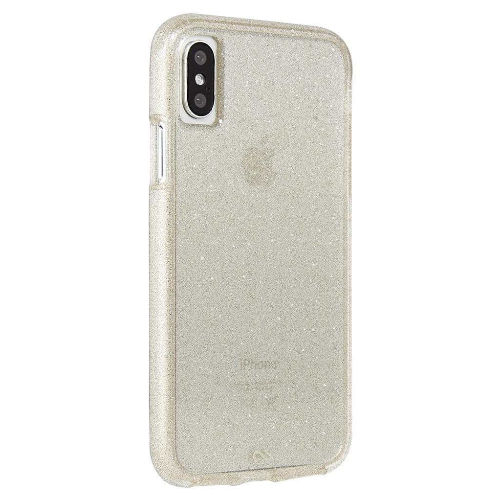 Afbeelding van Case Mate Sheer Glam Apple iPhone X Back Cover Goud telefoonhoesje